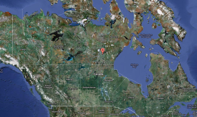 Location Of Angikuni Lake in Canada