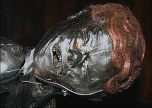 Grauballe Man - Found in Denmark and dated to 2300 years ago. Credit: Malene Thyssen