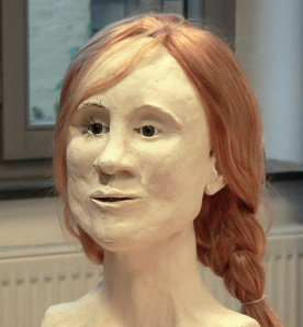Reconstructed face of the Girl from Uchter Moor - Credit to AxelHH