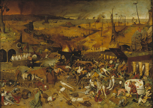 Depiction of the horrors of the plague within medieval Europe - By Pieter Bruegel (1562)