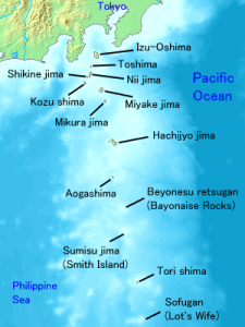 Map of the Izu Islands