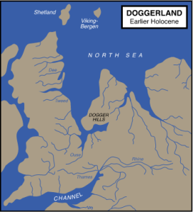 This is where Doggerland used to be in Europe. Credit: Max Naylor
