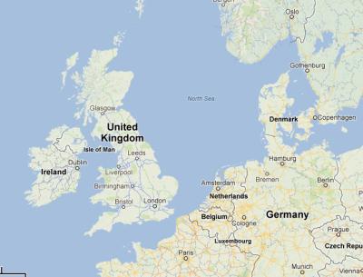 The same area today, minus Doggerland