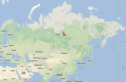 Location of the explosion's epicenter in Russia