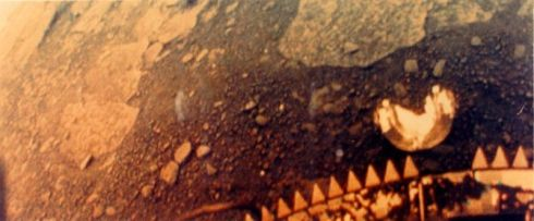 Image from the left camera of Venera 13