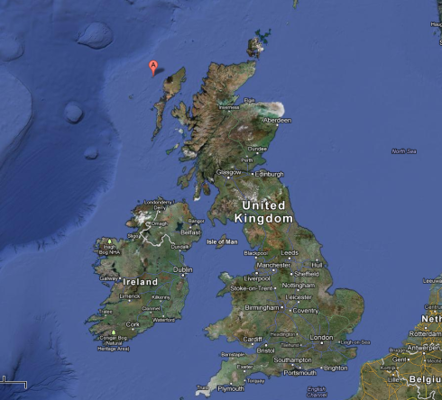 Location of the Flannan Isles