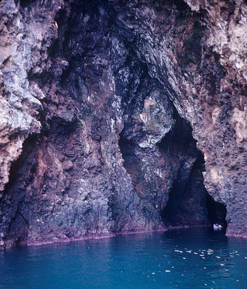 An example of a sea cave