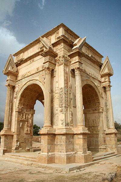 Leptis Magna's arch of Septimius Severus. Credit: David Gunn