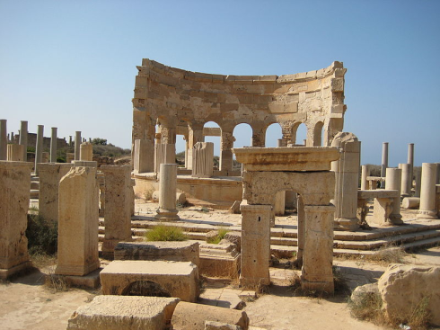 View of the marketplace in Leptis Magna. Credit: Sasha Coachman