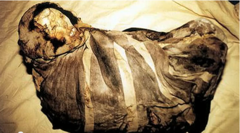 Mummy Juanita's frozen body