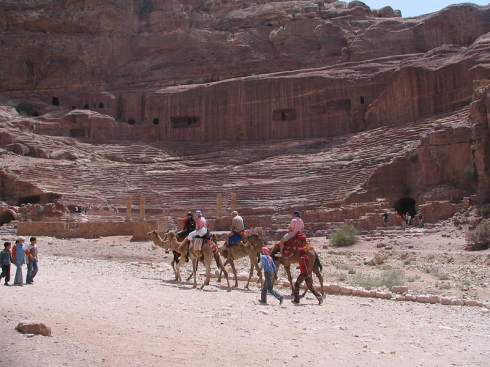 Roman-style theatre at Petra (http://commons.wikimedia.org/wiki/User:Leoboudv)