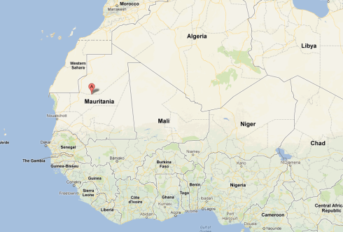 Location of the structure in Mauritania